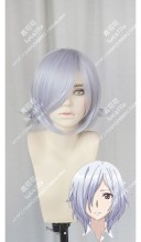 King's Game The Animation Ria Iwamura Siliver Mix Light Purple Short Cosplay Party Wig