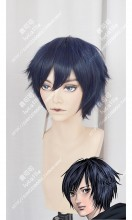 Inuyashiki Hiro Shishigami Madonna Blue Mix Black Short Cosplay Party Wig