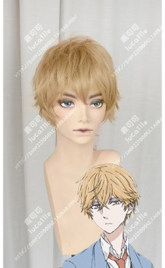 Hitorijime My Hero Asaya Hasekura Amber Mix Brown Short Cosplay Party Wig