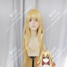 Dies irae Marie Stay Hair Style Canary Yellow 120cm Curly Cosplay Party Wig