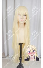 UQ Holder!: Magister Negi Magi! 2 Yukihime Light Golden 120cm Curly Cosplay Party Wig