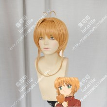 Cardcaptor Sakura: Clear Card Sakura Kinomoto Orange Mix Golden Stay Hair Style Cosplay Party Wig