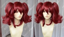 ZYR Ayamo Fashion Dark Red Color Cosplay lolita Party Wig w/ Ponytails