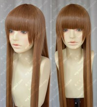 Blast of Tempest Aika Fuwa Brown Straight 100cm Cosplay Party Wig