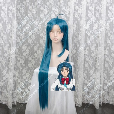 Full Metal Panic! Invisible Victory Kaname Chidori Madonna Blue Center Parting 100cm Straight Cosplay Party Wig