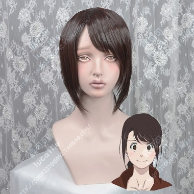 B: The Beginning Lily Hoshina Warm Brown Ponytail Style Cosplay Party Wig