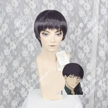 Tokyo Ghoul Kuki Urie Plum Mix Black Short Cosplay Party Wig