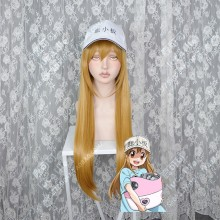 Hataraku Saibou Platelet Raw Sienna 60cm Straight Cosplay Party Wig