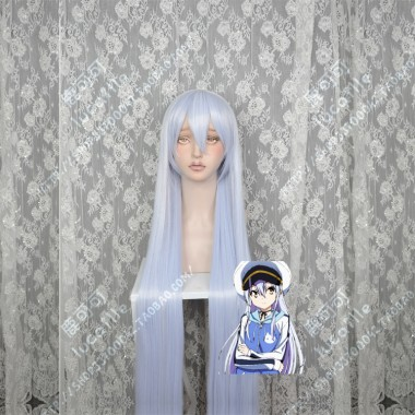 ISLAND Rinne Ohara LightSteelBlue Mix Lavender 100cm Straight Cosplay Party Wig