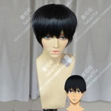 Kazetsuyo-anime Kakeru Kurahara Black Short Cosplay Party Wig