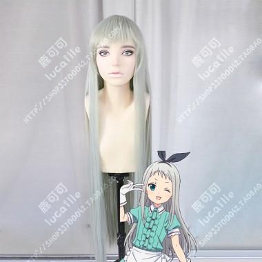 Blend S Hideri Kanzaki 100cm Asparagus Green Straight Cosplay Party Wig