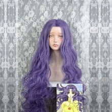 Cardcaptor Sakura Nadeshiko Kinomoto Comic Manga Version Dark Purple 130cm Curly Center Parting Cosplay Party Wig