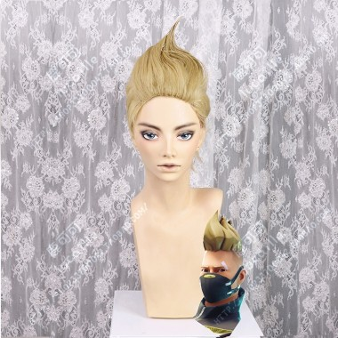 Fortnite Drift Skin Full Back Style Straw Mix Biscuit Short Cosplay Party Wig