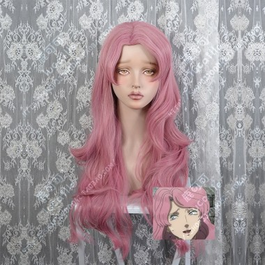 Black Clover Vanessa Enoteca Old Rose 80cm Curly Cosplay Party Wig