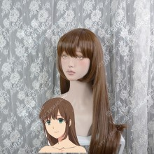 Domestic Girlfriend Hina Tachibana 70cm Bright Burnt Umber Straight Cosplay Party Wig