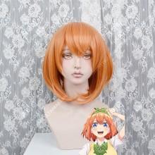 The Quintessential Quintuplets Yotsuba Nakano Orange Short Cosplay Party Wig