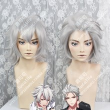 HypnosisMic -Division Rap Battle- Samatoki Aohitsugi Silvery Short Cosplay Party Wig