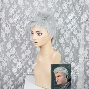 Devil May Cry 5 Nero Reed Gray Short Cosplay Party Wig