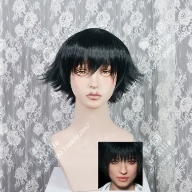 Devil May Cry 5 Lady Black Short Cosplay Party Wig