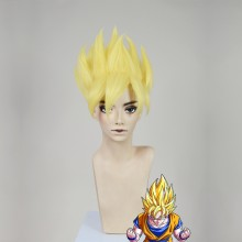 Dragon Ball Super Son Goku Super Saiyan Golden Wax Style Cosplay Party Wig