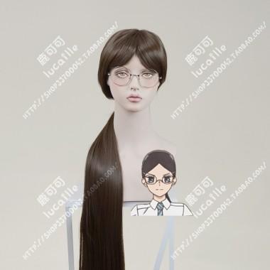 Araburu Kisetsu no Otome-domo yo. Rika Sonezaki 100cm Warm Brown Ponytail Straight Cosplay Wig