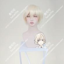 Araburu Kisetsu no Otome-domo yo. Niina Sugawara Light Golden Short Cosplay Party Wig