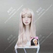 Fire Force Enen no Shouboutai Princess Hibana Light Pink 60cm Straight Cosplay Party Wig