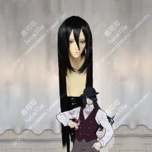 Fire Force Enen no Shouboutai Joker Black 100cm Straight Cosplay Party Wig