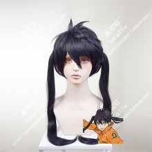 Fire Force Enen no Shouboutai Kotatsu Tamaki Black Mix Purple Ponytail Style Cosplay Party Wig