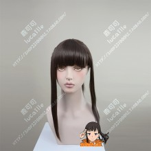Fire Force Enen no Shouboutai Maki Oze Brown Ponytail Style Cosplay Party Wig