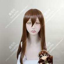 Dr.Stone Yuzuriha Ogawa Dark Brown 60cm Straight Cosplay Party Wig