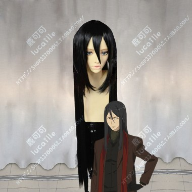 Lord El-Melloi II Case Files Lord El-Melloi II Waver Velvet 100cm Black Straight Cosplay Party Wig