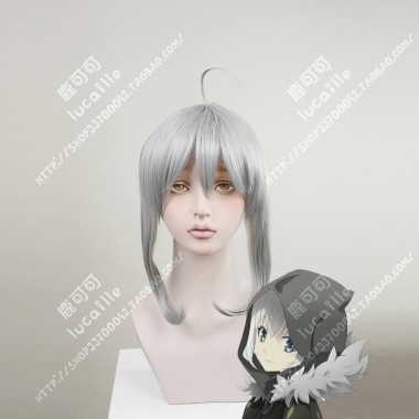 Lord El-Melloi II Case Files Gray Silvery Mix Gary Bun Style Cosplay Party Wig