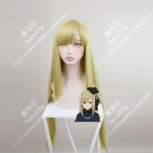 Lord El-Melloi II Case Files Reines El-Melloi Archisorte Olive Mix Golden 80cm Black Straight Cosplay Party Wig