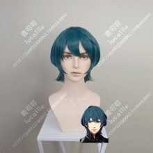 Fire Emblem: ThreeHouses Byleth Male Malachite Green Short Cosplay Party Wig