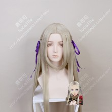 Fire Emblem: ThreeHouses Edelgard von Hresvelg 100cm Cream Mix Gloden Center Parting Cosplay Party Wig