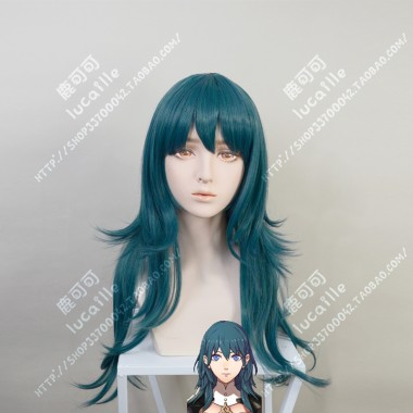 Fire Emblem: ThreeHouses Byleth Female Malachite Green 70cm Straight Cosplay Party Wig