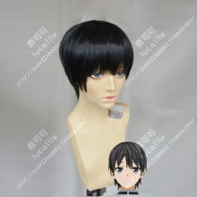 ORESUKI Are you the only one who loves me? Kisaragi Amatsuyu Black Short Cosplay Party Wig