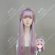 ORESUKI Are you the only one who loves me? Akino Sakura Purple Mix Pink 100cm Straight Cosplay Party Wig