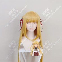 Assassins Pride Angel Melida Matt Gold 100cm Straight With Bun Style Cosplay Party Wig