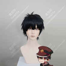 Jibaku Shounen Hanako-kun Hanako-kun Cuted Bang Style Black Short Cosplay Party Wig