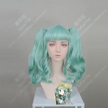 Magia Record: Mahou Shoujo Madoka☆Magica Futaba Sana Ice Green 2 Ponytails Style Cosplay Party Wig