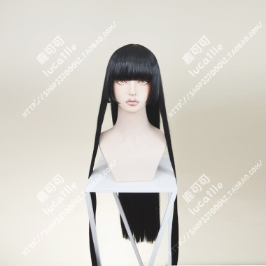 Dumbbell Nan Kilo Moteru? How heavy are the dumbbells you lift? Souryuuin Akemi Black Straight 100cm Cosplay Party Wig