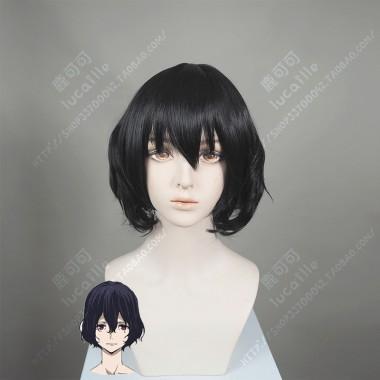 Gleipnir Hikawa Rinka Haircut Curly Black Short Cosplay Party Wig