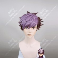 Jibaku Shounen Hanako-kun Tsuchigomori Front Violet Back Grape Short Cosplay Party Wig