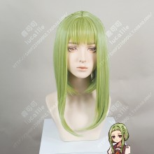 Jibaku Shounen Hanako-kun Sakura Nanamine Leaf Green Long Sideburn Cosplay Party Wig