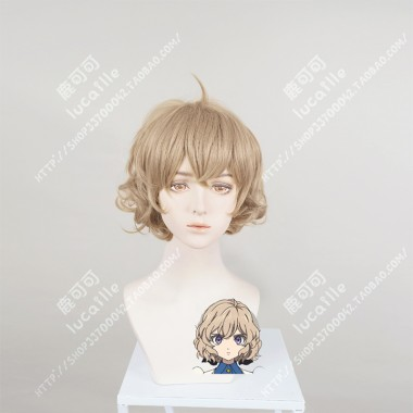 Kyokou Suiri In/Spectre Kotoko Iwanaga Buff Color Rika Hair Style Short Cosplay Party Wig