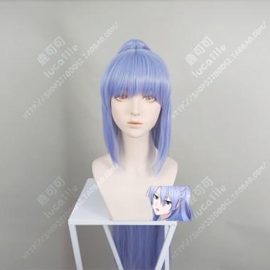 Rikei ga Koi ni Ochita no de Shoumei shitemita Ayame Himuro 100cm Straight Hyacinth Blue   With Pigtail Cosplay Party Wig