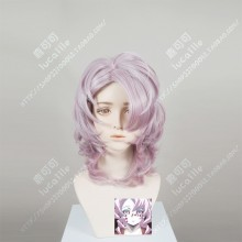 Demon Slayer: Kimetsu no Yaiba Rui Pink Mix Purple Short Curly Cosplay Party Wig