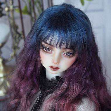 Mohair Manual Dyeing style for BJD wig